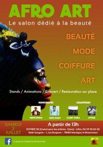 Affiche Afro Art 2 juillet 2016